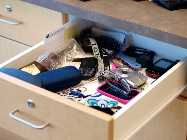 SHMS drawer of lost stuff